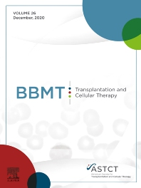 Cover image for Biology of Blood and Marrow Transplantation