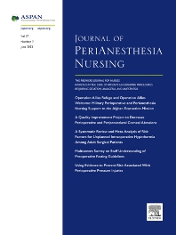 Cover image for Journal of PeriAnesthesia Nursing