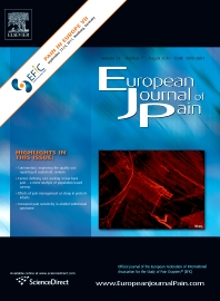 Cover image for European Journal of Pain