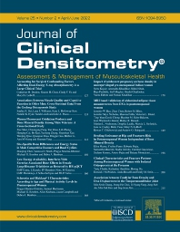 Cover image for Journal of Clinical Densitometry