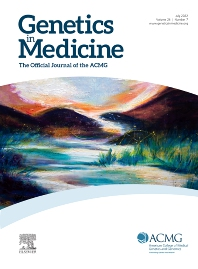 Cover image for Genetics in Medicine