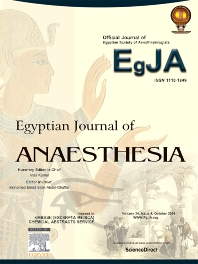 Cover image for Egyptian Journal of Anaesthesia