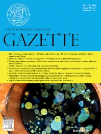 Cover image for Egyptian Pediatric Association Gazette