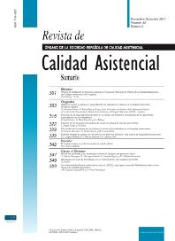 Cover image for Revista de Calidad Asistencial