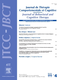 Cover image for Journal of Behavioral and Cognitive Therapy