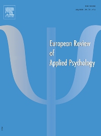 Cover image for European Review of Applied Psychology