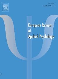 Cover image for Revue Européenne de Psychologie Appliquée
