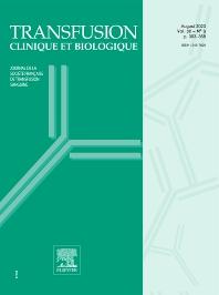 Cover image for Transfusion Clinique et Biologique