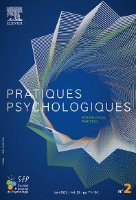 Cover image for Pratiques Psychologiques