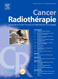 Cover image for Cancer Radiothérapie