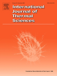 cover of International Journal of Thermal Sciences