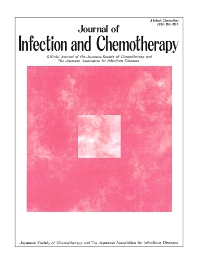 Cover image for Journal of Infection and Chemotherapy