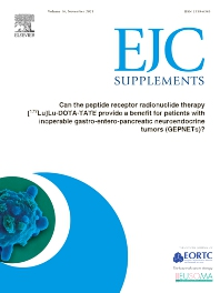 Cover image for European Journal of Cancer: Supplement