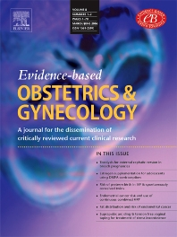 Cover image for Evidence-based Obstetrics & Gynecology