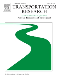 Transportation Research Part D: Transport and Environment - ISSN 1361-9209
