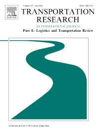 Transportation Research Part E: Logistics and Transportation Review - ISSN 1366-5545
