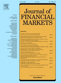 Cover image for Journal of Financial Markets