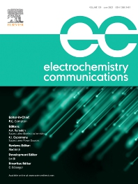Cover image for Electrochemistry Communications