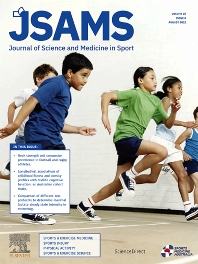 Cover image for Journal of Science and Medicine in Sport