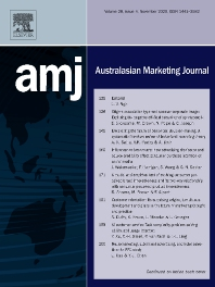 Cover image for Australasian Marketing Journal