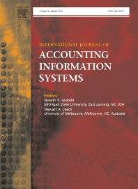 Cover image for International Journal of Accounting Information Systems