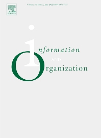 Information and Organization - ISSN 1471-7727