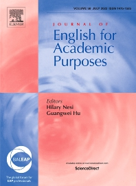 cover of Journal of English for Academic Purposes