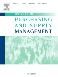 Cover image for Journal of Purchasing and Supply Management