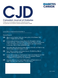 Cover image for Canadian Journal of Diabetes
