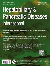 Cover image for Hepatobiliary & Pancreatic Diseases International