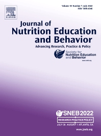 Cover image for Journal of Nutrition Education and Behavior