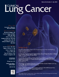 Cover image for Clinical Lung Cancer