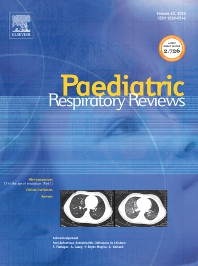 Cover image for Paediatric Respiratory Reviews