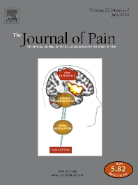 Cover image for The Journal of Pain