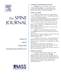 Cover image for The Spine Journal