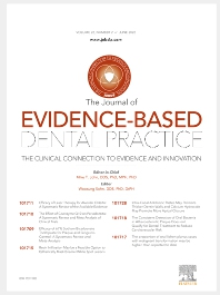 Cover image for Journal of Evidence-Based Dental Practice