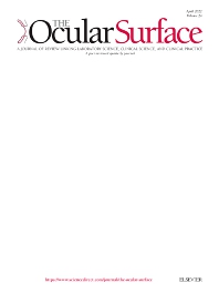 The Ocular Surface - ISSN 1542-0124