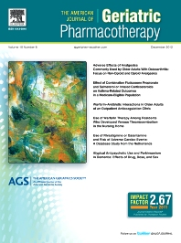 Cover image for The American Journal of Geriatric Pharmacotherapy