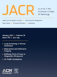 Cover image for Journal of the American College of Radiology