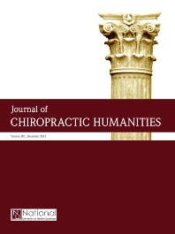 Cover image for Journal of Chiropractic Humanities