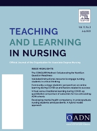 Cover image for Teaching and Learning in Nursing