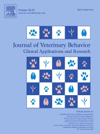 Cover image for Journal of Veterinary Behavior