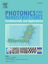 Photonics and Nanostructures - Fundamentals and Applications - ISSN 1569-4410