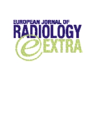 Cover image for European Journal of Radiology Extra