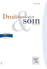 Cover image for Droit, Déontologie & Soin