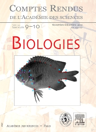 Cover image for Comptes Rendus: Biologies