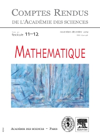 Cover image for Comptes Rendus: Mathématique