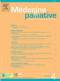 Médecine Palliative Journal Elsevier