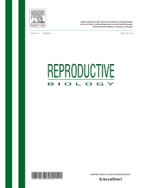 Cover image for Reproductive Biology