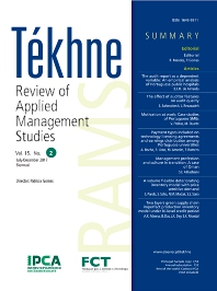 Cover image for Tékhne: Review of Applied Management Studies